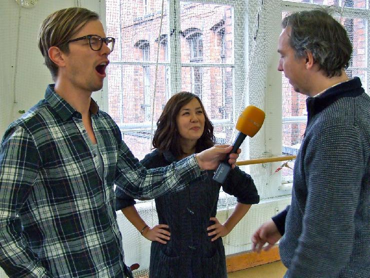 RadioEins mit Olli und Joko in der Schauspielschule Etage