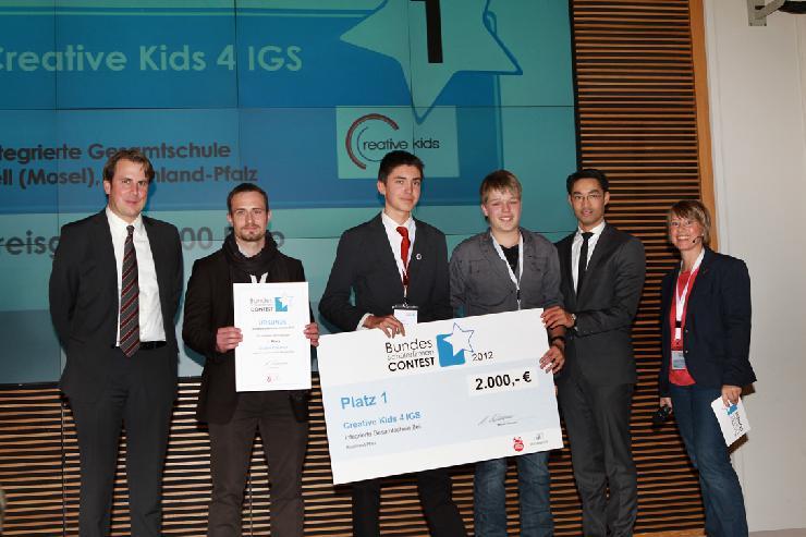 Kreativität zahlt sich aus: Creative Kids 4 IGS aus Rheinland-Pfalz ist die beste Schülerfirma 2012