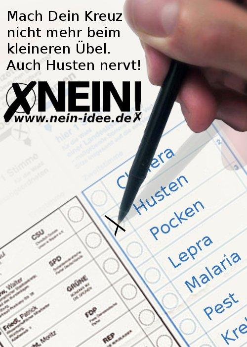 NEIN!-Idee Deutschland: Fels in der Brandung des Parteien-Einheitsbreis
