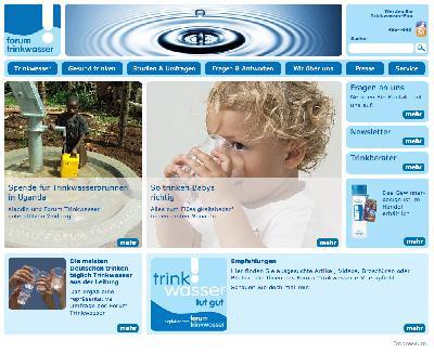 Neuer Auftritt für das Forum Trinkwasser