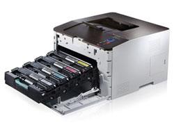 Günstiger Farblaserdrucker mit neu entwickeltem Toner aus Polymeren - der Samsung CLP-415NW