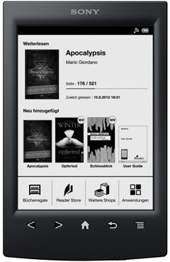 Mit einem eBook Reader Bücher überall lesen