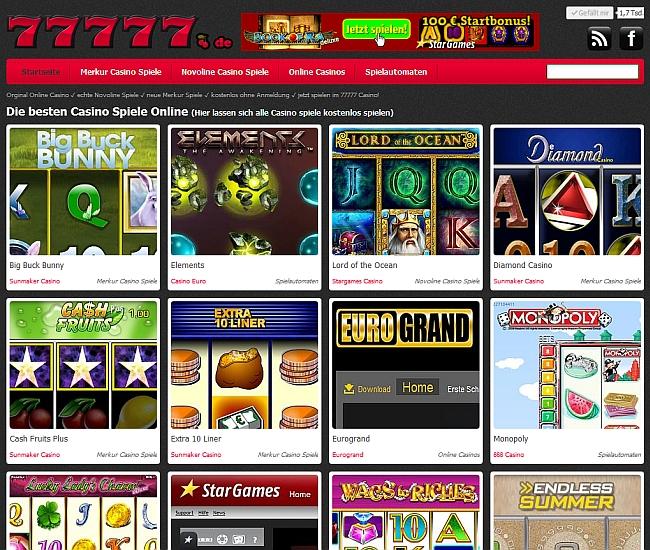 Online Spiele bei 77777.de