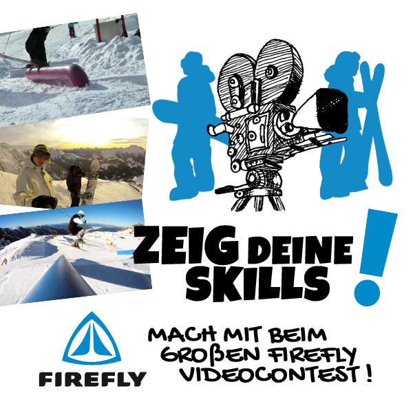 Firefly startet einen Video-Contest für Freeskier und Snowboarder