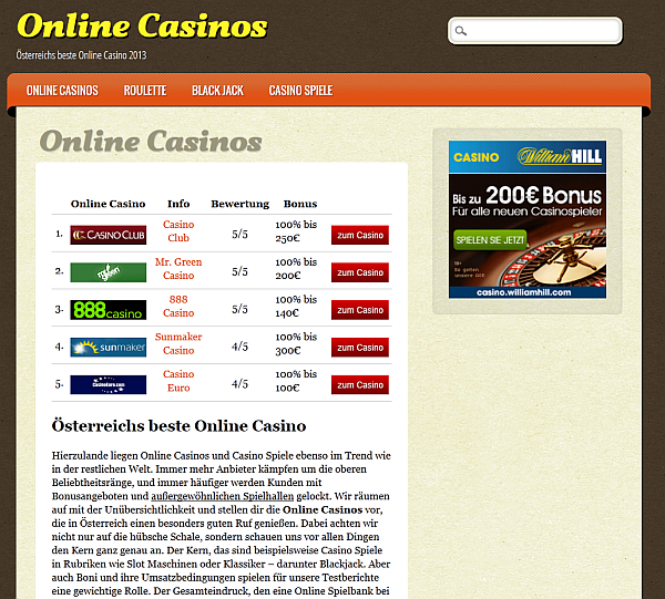 Online-Casinos.at in Österreich
