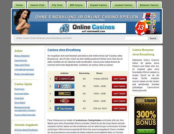 Kostenlos in Casinos spielen