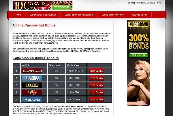 Die besten Casino Bonusse im Netz