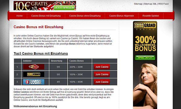 Casinobonus mit Einzahlung sichern