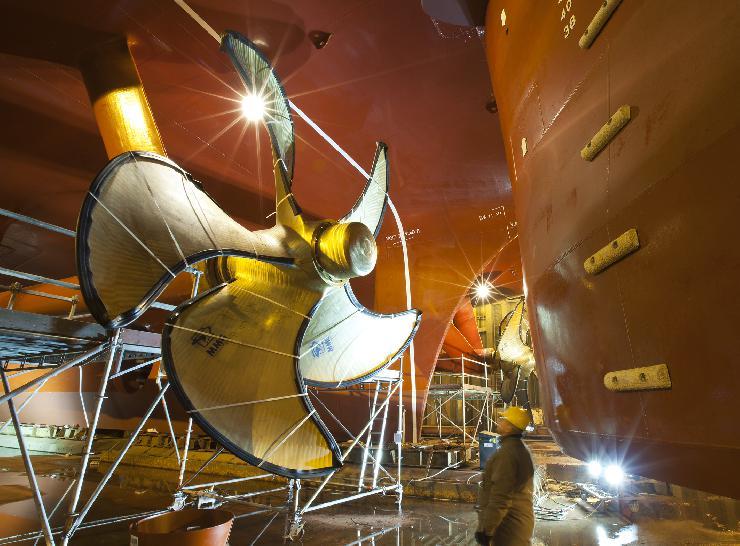 Schiffspropeller für das neue Kreuzfahrtschiff AIDAstella