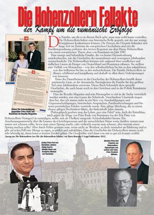 Die Hohenzollern Fallakte: Von Schloss Sigmaringen zu den britischen Gerichtshöfen Royal Courts of Justice, vom Weißen Haus zum rumänischen Präsidentschaftswahlkampf