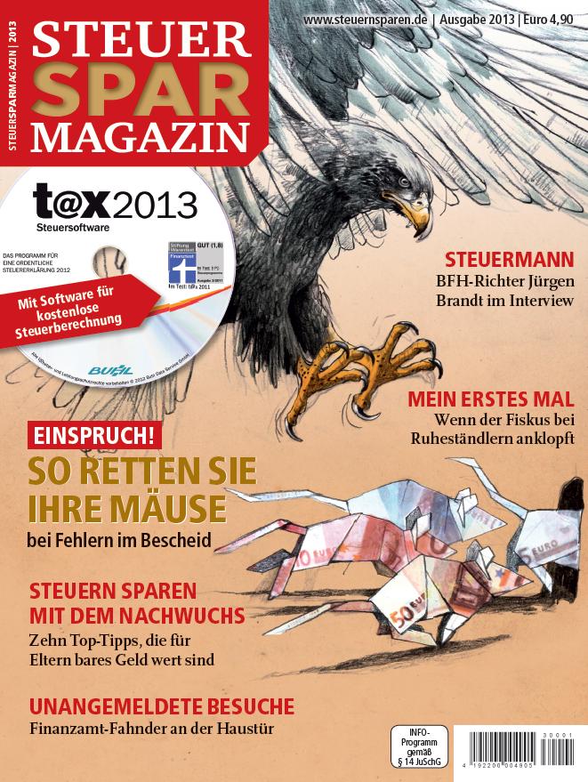 Ab sofort am Kiosk: Das Steuer-Spar-Magazin 2013