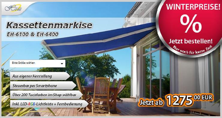 Markisen & Sonnenschutz zu Winterpreisen!