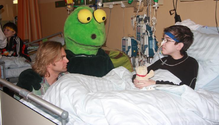 Zeit des Lachens e.V. mit prominenter Unterstützung im Dr. von Haunerschen Kinderspital