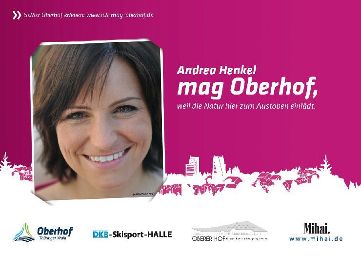 Andrea Henkel und Arnd Peiffer werben in Berlin auf Großplakaten für Thüringens Ferienort Nr. 1 - Oberhofer Marketingoffensive zur ITB 2013