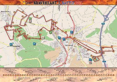 Die finale Strecke des BraveheartBattle 2013
