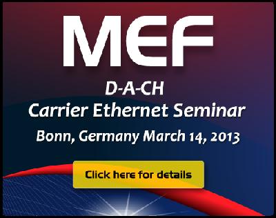 MEF bringt kostenlose Carrier Ethernet Seminarreihe nach Deutschland