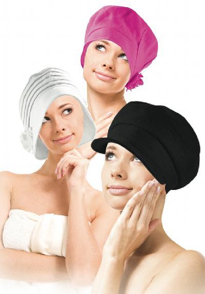 Saunahüte schützen Kopf und die Haare