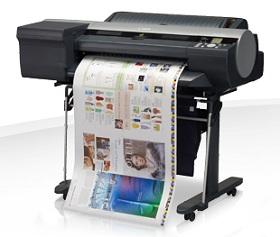 Canon imagePROGRAF iPF6400 mit Druckerpatronen für exakte Farbreproduktion