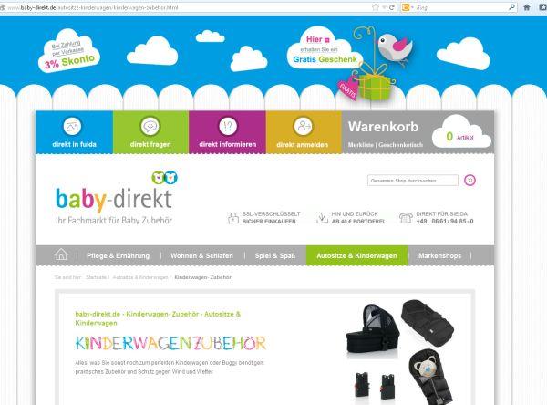 Kinderwagen-Ratgeber jetzt online bei baby-direkt
