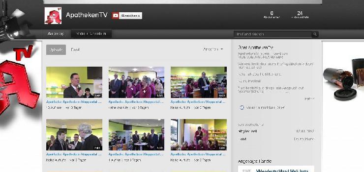 Wir veröffentlichen kostenlos Apotheken Videos auf unseren Kanälen