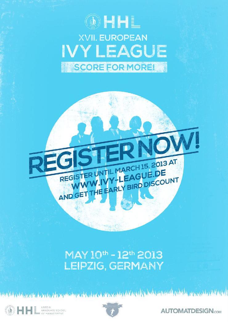 Jetzt anmelden: 17. Auflage des Fußballturniers European Ivy League der HHL vom 10.-12. Mai 2013
