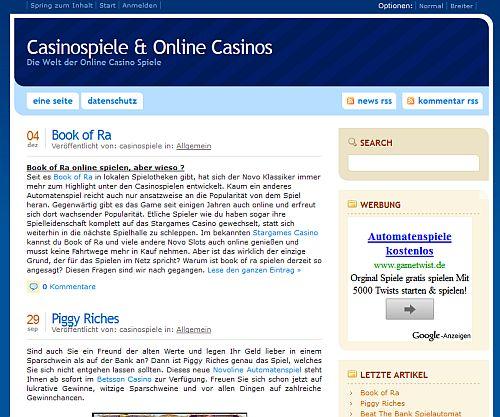 Snafu mit Casino Spiele Blog