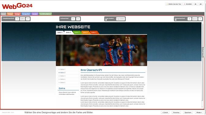 Homepage-Baukasten von WebGo24: Über 300 Vorlagen für die eigene Firmen- und Familien-Webseite