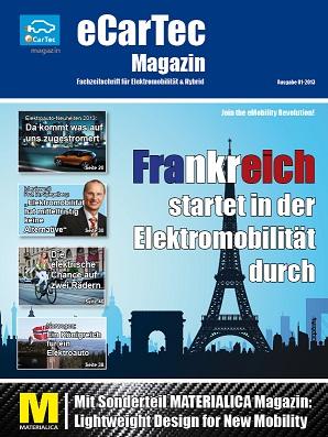 eCarTec Magazin, Ausgabe 01-2013, Ihre kostenlose Online-Zeitschrift zum Thema Elektromobilität & Hybrid