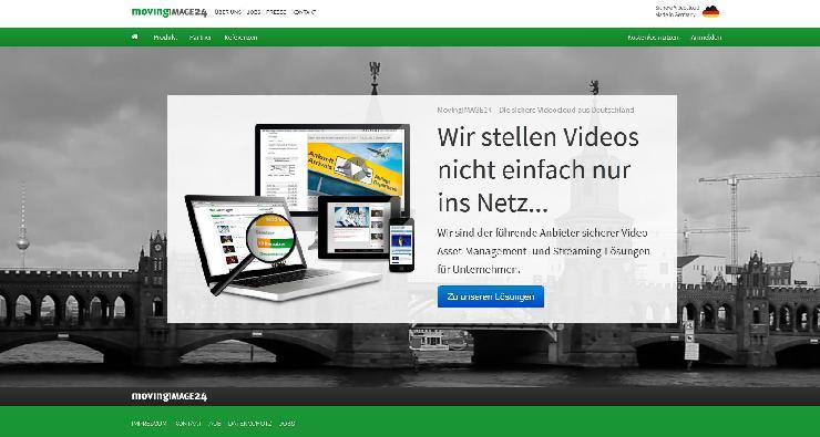 Video-Cloud-Unternehmen MovingIMAGE24 präsentiert neuen Onlineauftritt mit Responsive Design und bewegten Video-Hintergrund