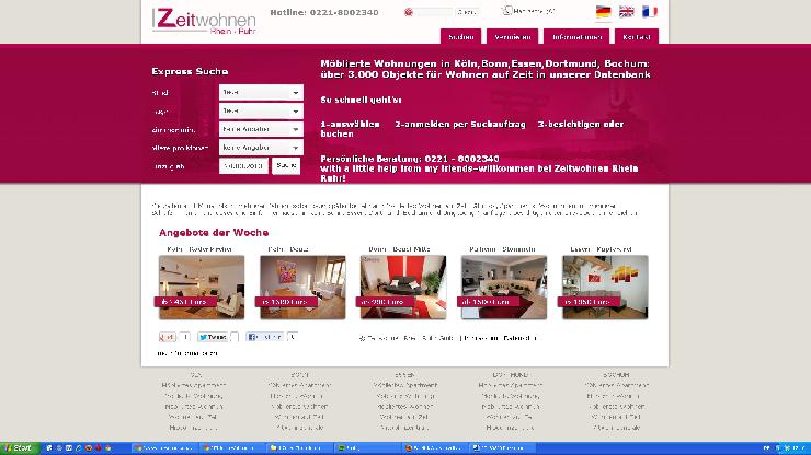 Günstiger als Kölner Hotel - Möblierte Wohnung in Köln