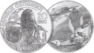 Lebendige Urzeit - die neue Münzserie von Münze Österreich beginnt mit dem Trias