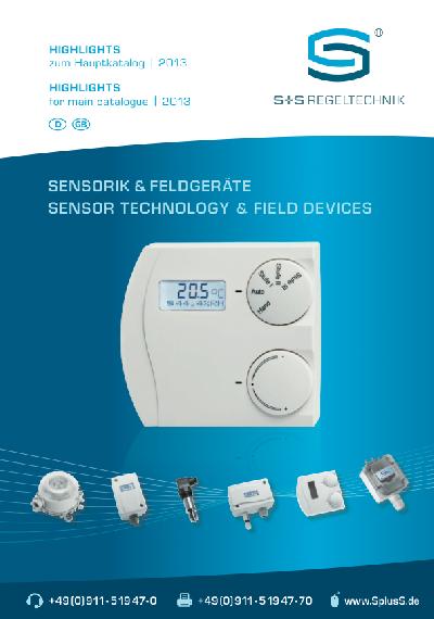 S+S Regeltechnik macht ausgewählte Sensoren, Fühler, und Regler zu Highlights 2013