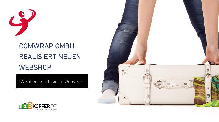comwrap relauncht Onlineshop für 123koffer.de