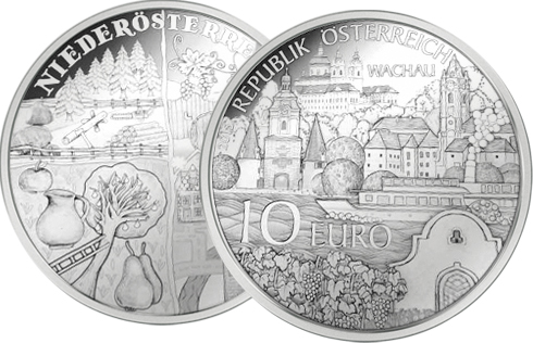 Vier Viertel einer Münze: Christian entwirft die 10 Euro Silbermünze für Niederösterreich