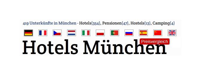 Hotels München buchen - Hotels schnell gefunden durch neues regionales Onlineportal inkl. Preisvergleich