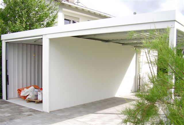 pressenachricht das beste aus zwei welten mit carport und garage. Black Bedroom Furniture Sets. Home Design Ideas