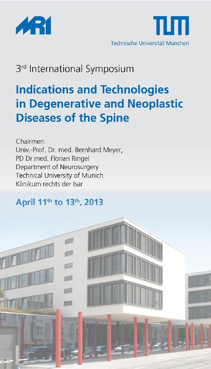ulrich medical® als Hauptsponsor beim erfolgreichen 3rd International Symposium der Technischen Universität München