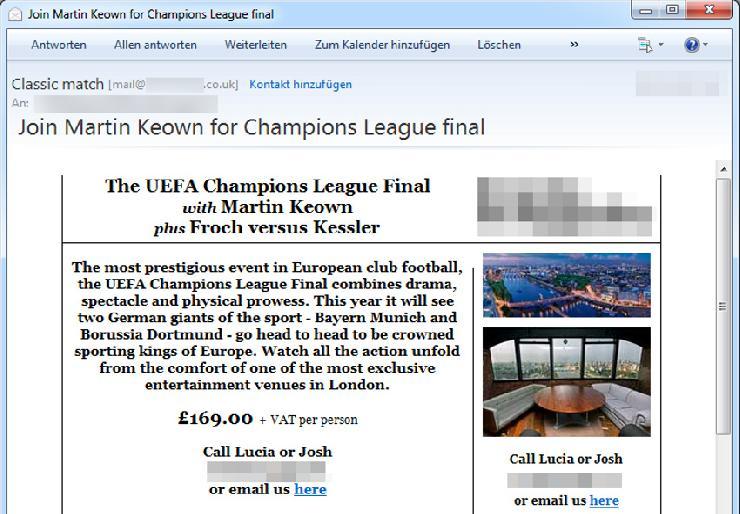 UEFA Chmapions League Finale 2013: Fußball-Fans im Visier