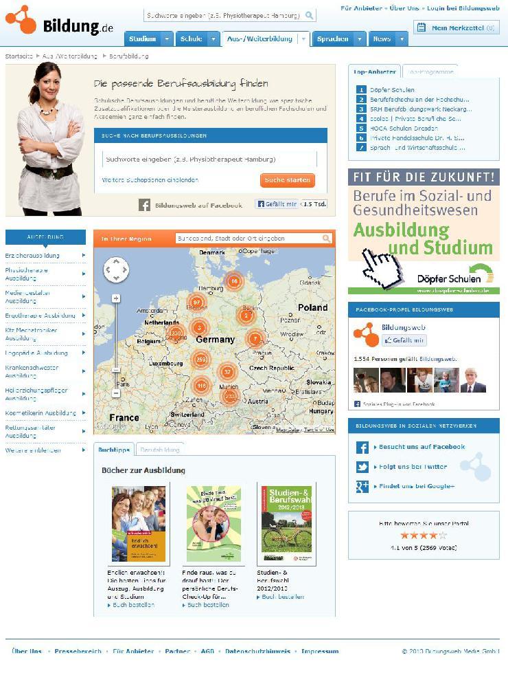 Bildung.de launcht umfassende Datenbank für berufliche Schulen