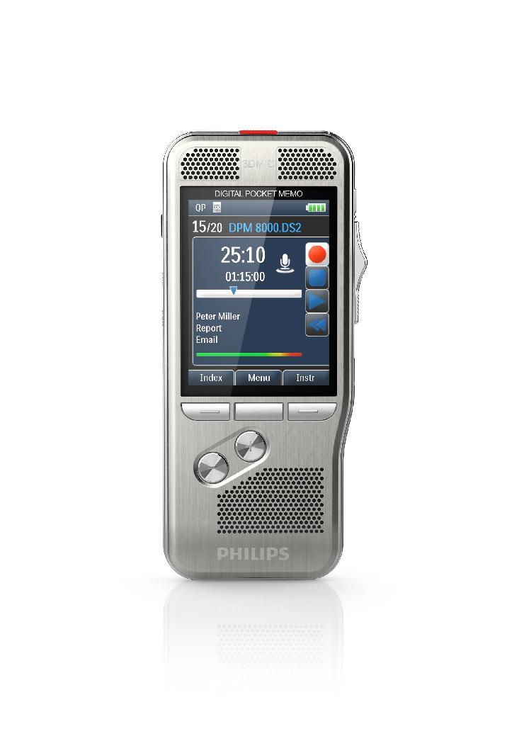 Überragende Diktierergebnisse dank 3D-Mikrofontechnik: Das Philips Pocket Memo ist da