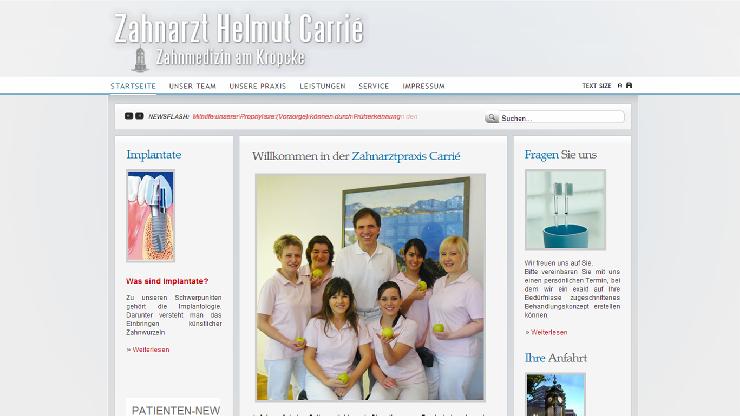 Zahnarzt Carrié  investiert in neuen Online Marketing Auftritt