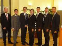 Studenten der Handelshochschule Leipzig (HHL) beraten Volksbank Leipzig