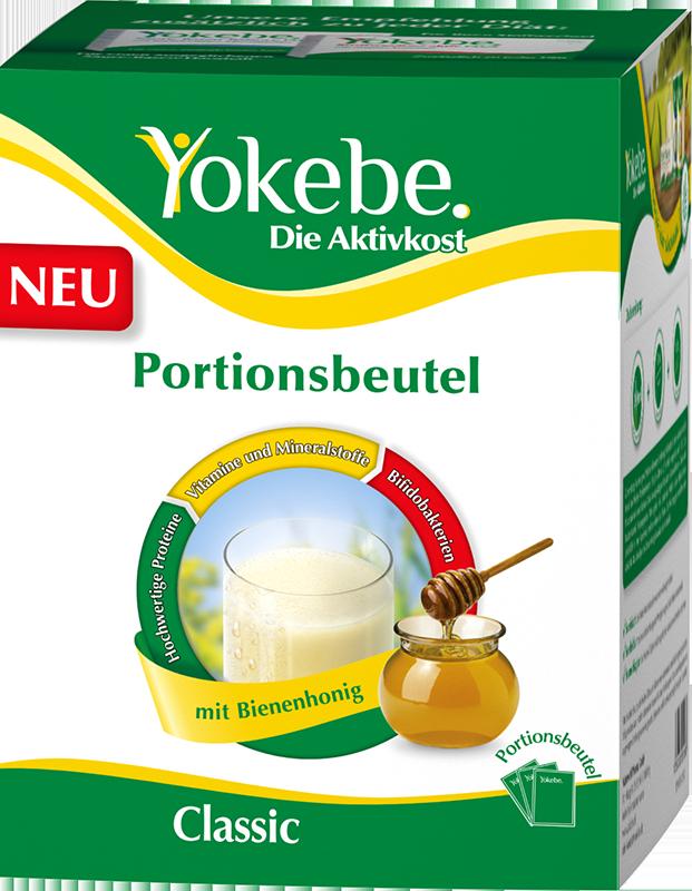 Abnehmen mit Yokebe  Die Aktivkost jetzt auch im praktischen Portionsbeutel. Ideal für unterwegs!