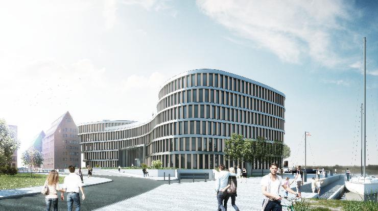 AIDA Cruises legt den Grundstein für neuen Bürokomplex