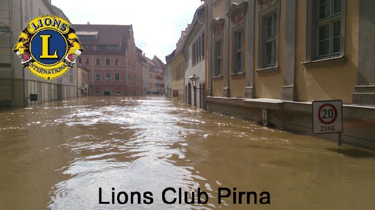 Hilfeaufruf des Präsidenten des Lions Club Pirna - Hochwasser Pirna 2013