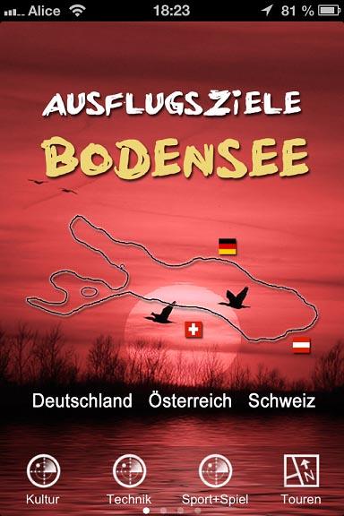 Bodensee Ausflugsziele jetzt als Smartphone-App