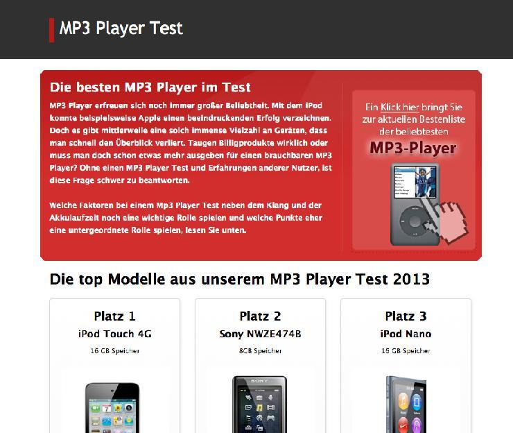 Wichtige Punkte zum Kauf eines brauchbaren MP3 Player
