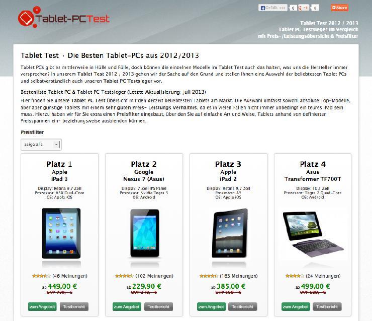 Tablet Test - Was leisten die aktuellen Tablet-PCs?