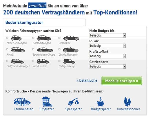 MeinAuto.de startet ersten bedarfsorientierten, markenübergreifenden und endpreisbasierten Konfigurator