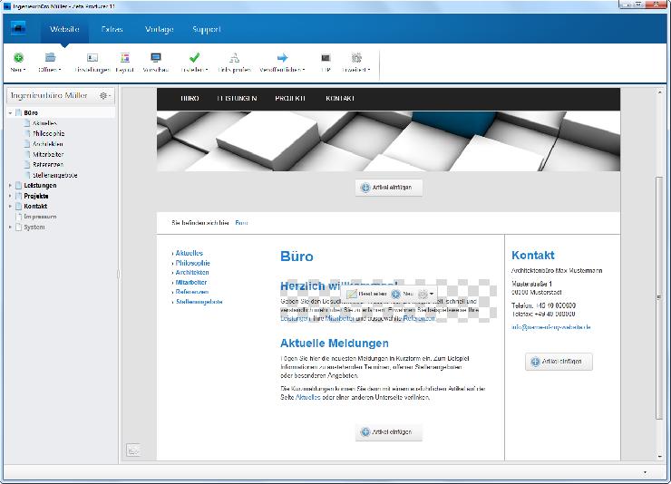 Noch mehr Responsive Design für das Desktop CMS Zeta Producer